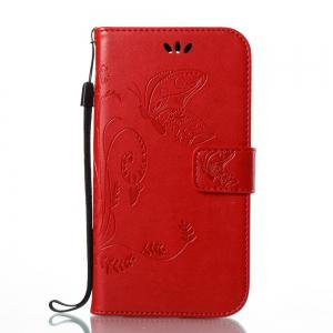 Wkae Flowers Embossing Pattern Housse en cuir PU Leather Flip Case pour MOTO C MC -