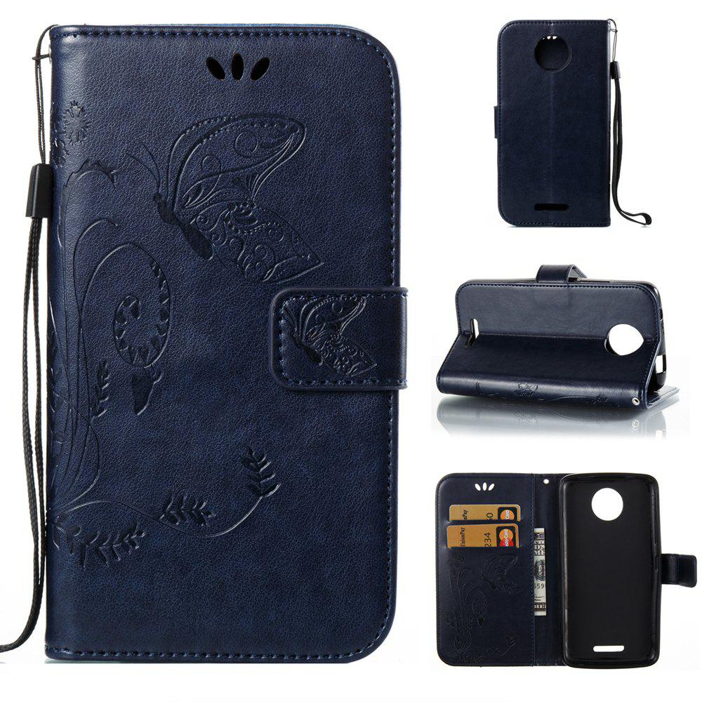 Outfits Wkae Flowers Embossing Pattern PU Leather Flip Stand Case Cover for MOTO C MC