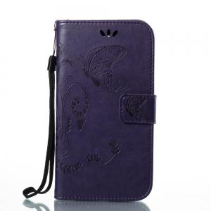 Wkae Flowers Embossing Pattern Housse en cuir PU Leather Flip Case pour MOTO C Plus -