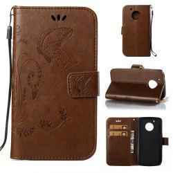 Wkae Flowers Embossing Pattern Housse en cuir Flip Leather Case pour MOTO G5 -