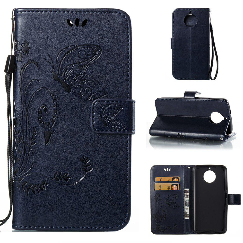 Shops Wkae Flowers Embossing Pattern PU Leather Flip Stand Case Cover for MOTO G6