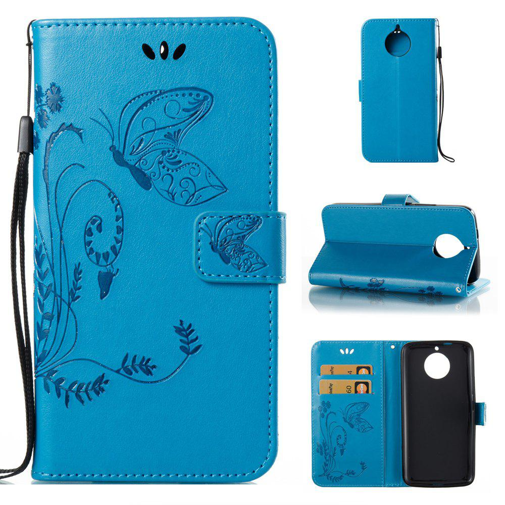 Affordable Wkae Flowers Embossing Pattern PU Leather Flip Stand Case Cover for MOTO G6