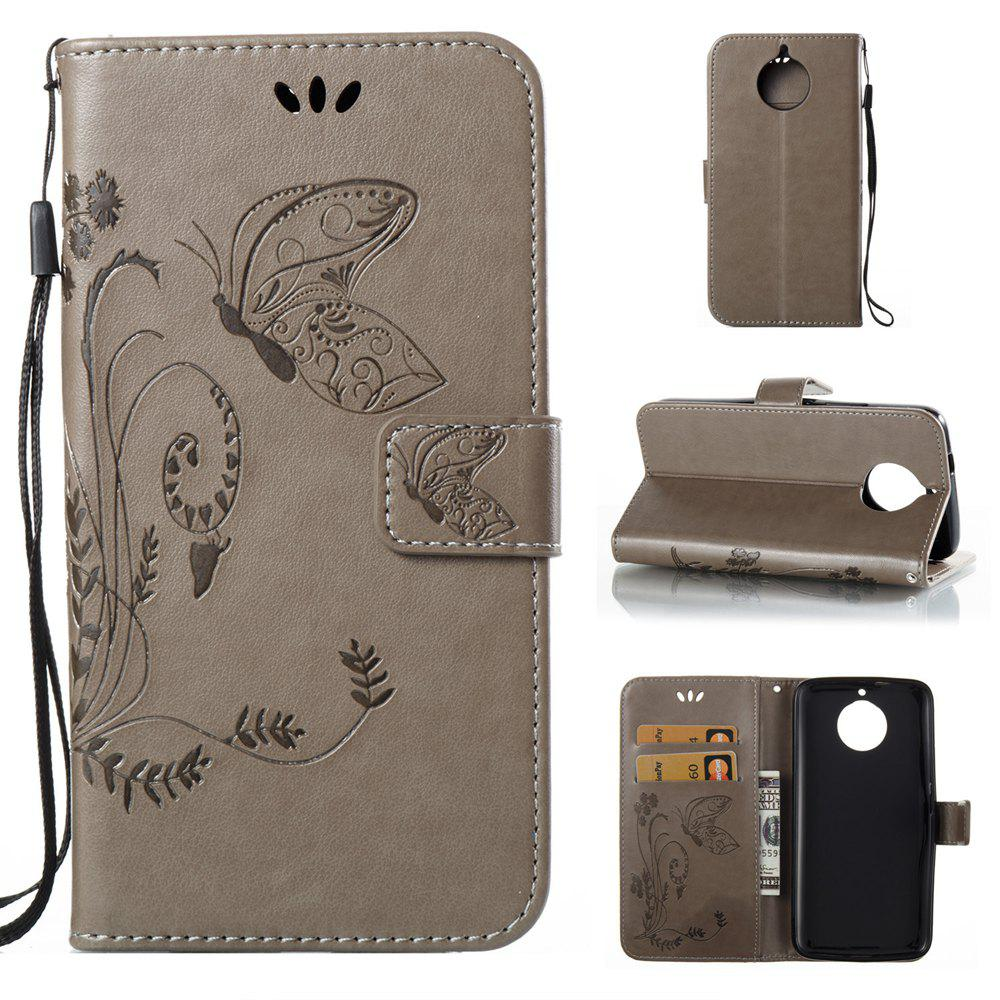 Unique Wkae Flowers Embossing Pattern PU Leather Flip Stand Case Cover for MOTO G6