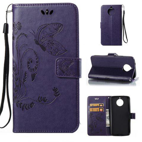 Unique Wkae Flowers Embossing Pattern PU Leather Flip Stand Case Cover for MOTO G6 Plus