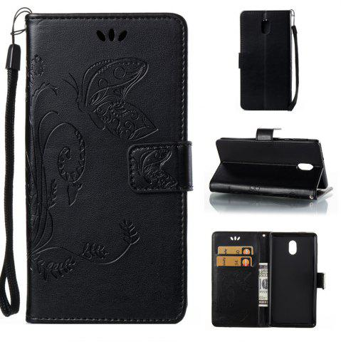 Discount Wkae Flowers Embossing Pattern Pu Leather Flip Stand Case Cover for Nokia 5 N5