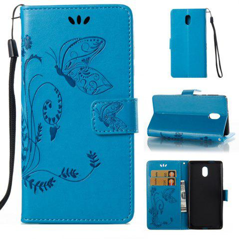 Fancy Wkae Flowers Embossing Pattern Pu Leather Flip Stand Case Cover for Nokia 5 N5