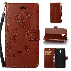 Wkae Flowers Embossing Pattern Pu Leather Flip Stand Case Cover for Nokia 5 N5 -