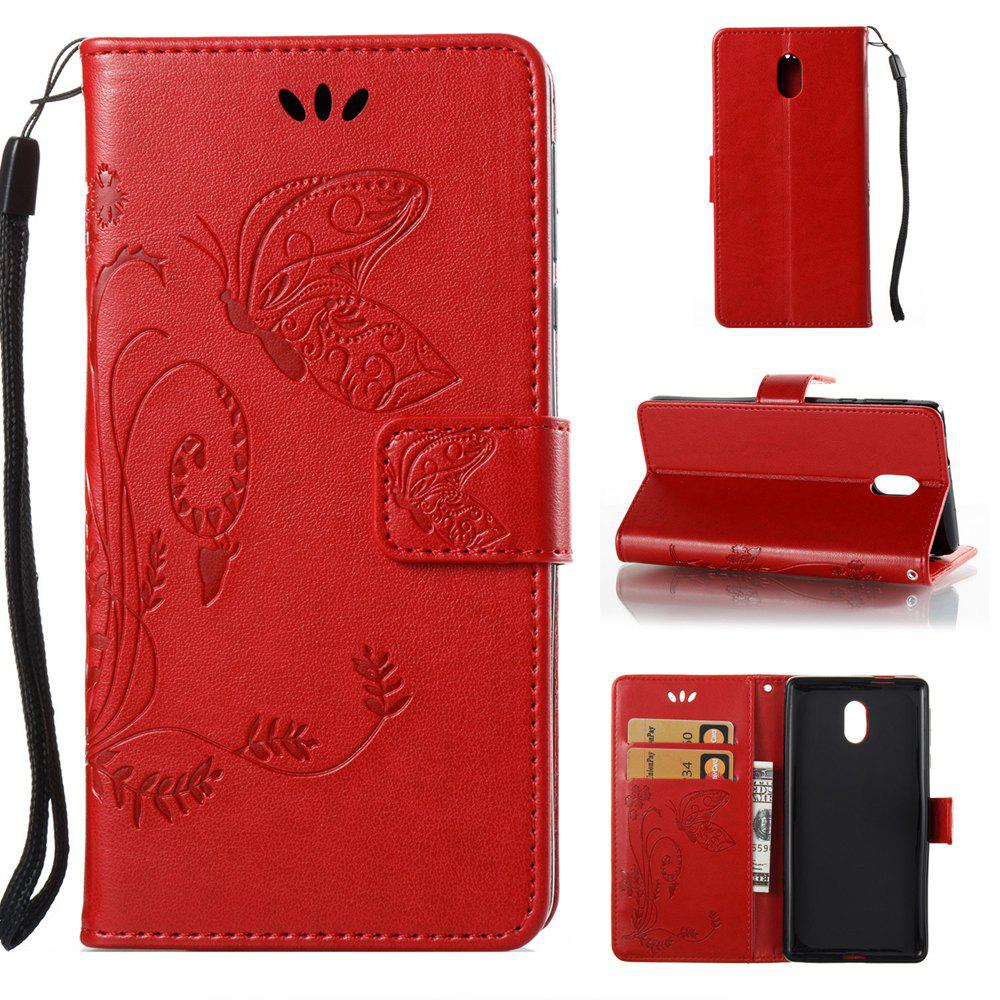Hot Wkae Flowers Embossing Pattern Pu Leather Flip Stand Case Cover for Nokia 5 N5