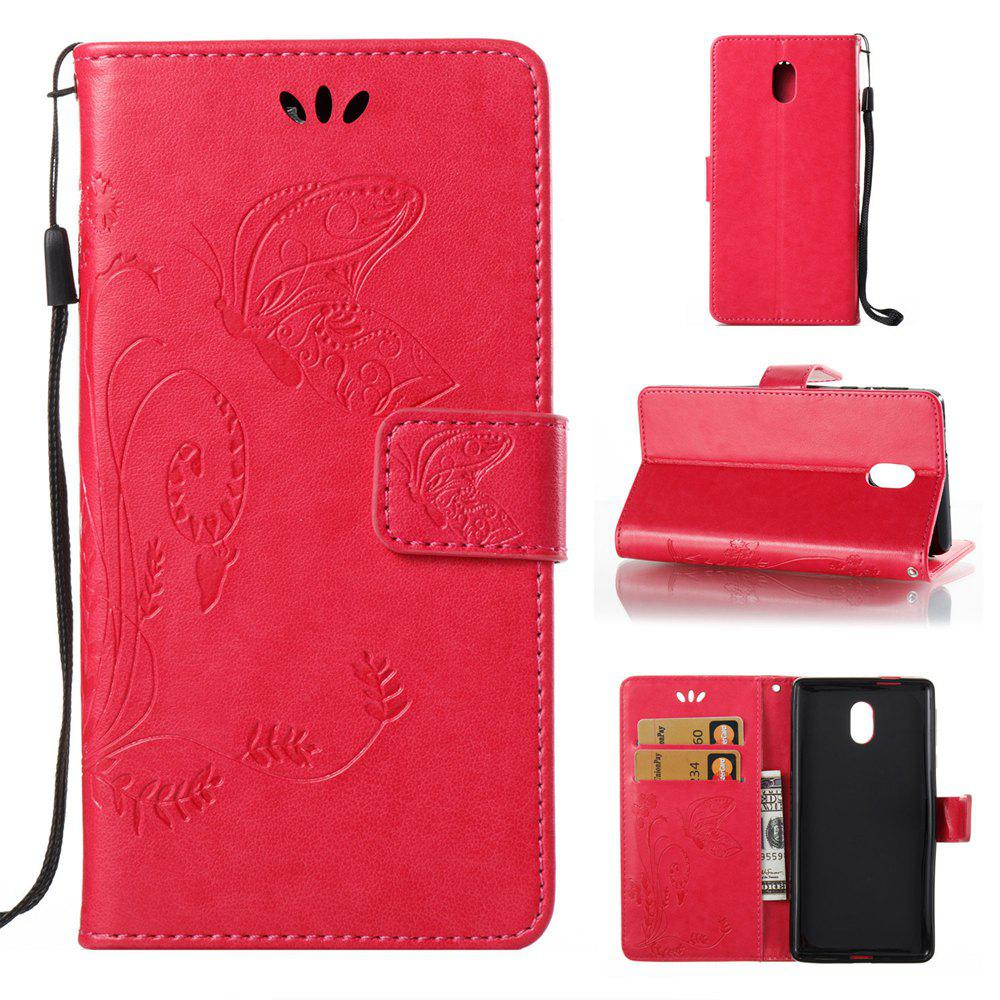 Unique Wkae Flowers Embossing Pattern Pu Leather Flip Stand Case Cover for Nokia 5 N5