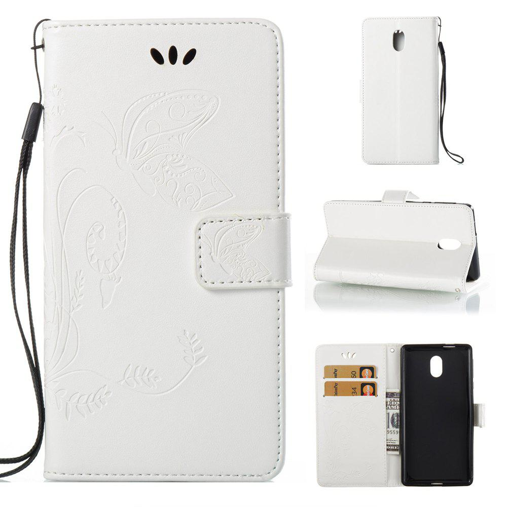 Shop Wkae Flowers Embossing Pattern Pu Leather Flip Stand Case Cover for Nokia 5 N5