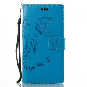 Wkae Flowers Embossing Pattern PU Leather Flip Stand Case Cover for Sony Xperia L1 -