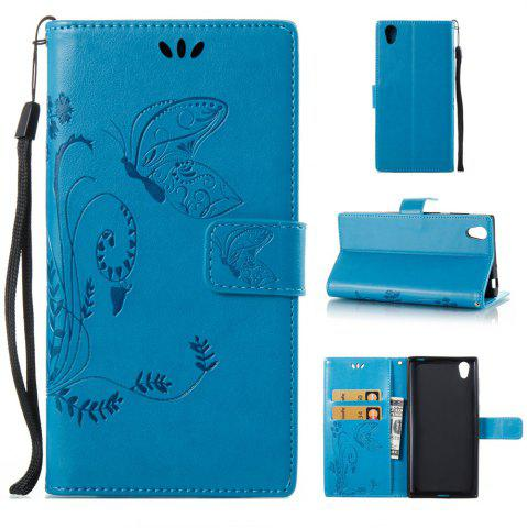 Unique Wkae Flowers Embossing Pattern PU Leather Flip Stand Case Cover for Sony Xperia L1