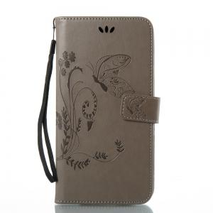 Wkae Flowers Embossing Pattern PU Leather Flip Stand Case Cover for ZTE Z Max Pro Z981 -
