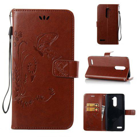 Hot Wkae Flowers Embossing Pattern PU Leather Flip Stand Case Cover for ZTE Z Max Pro Z981