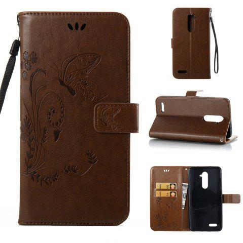 Fashion Wkae Flowers Embossing Pattern PU Leather Flip Stand Case Cover for ZTE Z Max Pro Z981