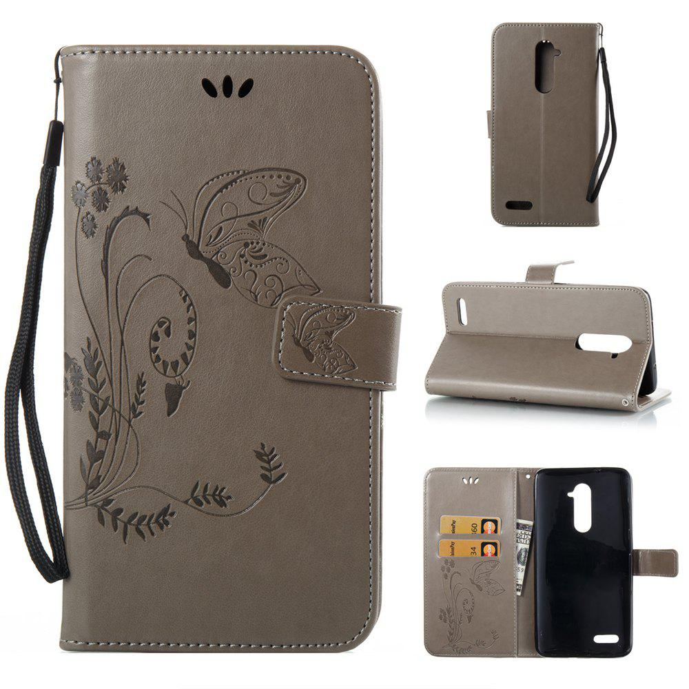 Unique Wkae Flowers Embossing Pattern PU Leather Flip Stand Case Cover for ZTE Z Max Pro Z981