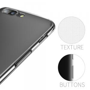 Ultrathin Shock-Absorption Bumper TPU Clear Case for One Plus 5 -