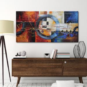 Auspicious Clouds Wind Abstract Colorful Oil Painting Canvas Decoration Modern Artwork Print -