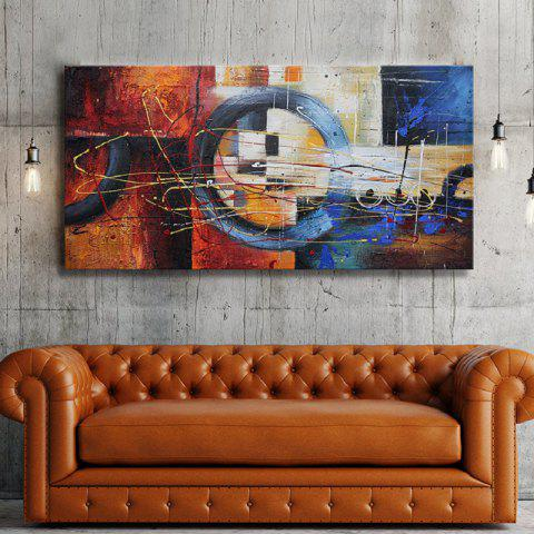 Affordable Auspicious Clouds Wind Abstract Colorful Oil Painting Canvas Decoration Modern Artwork Print