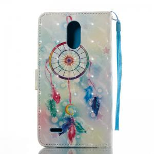 Feather Wind Chimes 3D Painted Pu Phone Case for Lg Stylus3 Ls777 -