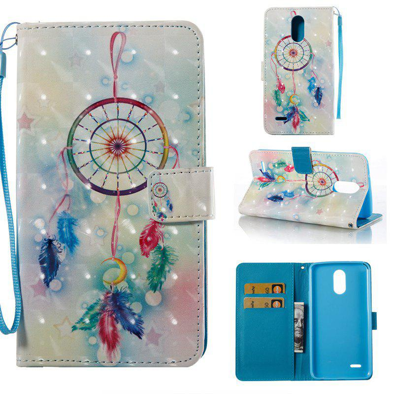 Store Feather Wind Chimes 3D Painted Pu Phone Case for Lg Stylus3 Ls777