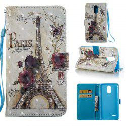 35 Towers 3D Painted Pu Phone Case for Lg Stylus3 Ls777 -