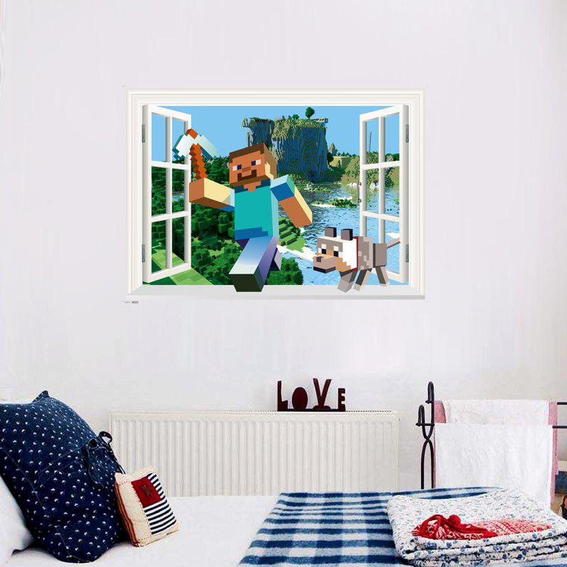 Game Running Together on The River Wall Sticker Home DecorHOME<br><br>Size: 50 X 70CM; Color: MIX COLOR;
