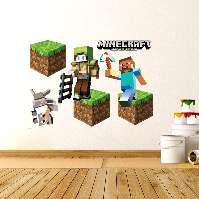3D Game Stage Mode Wall Sticker Decoration Kid Bedroom DecalHOME<br><br>Size: 50 X 70CM; Color: MIX COLOR;