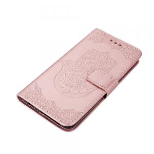 Wkae Embossed Leather Case Cover with Insert Card Slots And Kickstand for Huawei Hornor 8 -