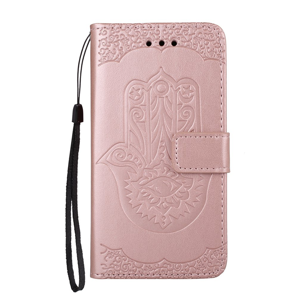Outfit Wkae Embossed Leather Case Cover with Insert Card Slots And Kickstand for Huawei Hornor 8