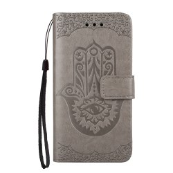 Wkae Embossed Leather Case Cover with Insert Card Slots And Kickstand for Samsung Galaxy A310 -