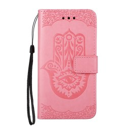 Wkae Embossed Leather Case Cover with Insert Card Slots And Kickstand for Samsung Galaxy A510 -