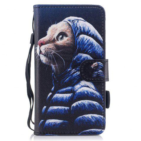 Trendy Color Pattern Flip PU Leather Wallet Case with Sling for Samsung Galaxy J3 2017 (Europe and Asia Edition)