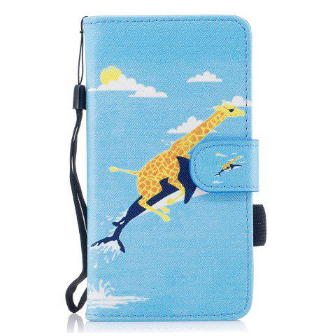 Shops Color Pattern Flip PU Leather Wallet Case with Sling for Samsung Galaxy J3 2017 (Europe and Asia Edition)