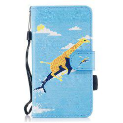 Color Pattern Flip PU Leather Wallet Case with Sling for Samsung Galaxy J3 2017 (Europe and Asia Edition) -