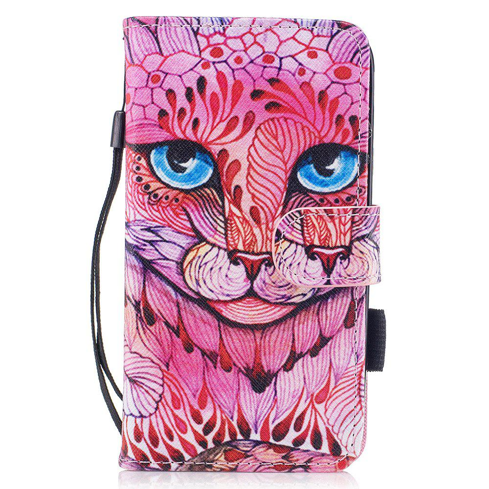 Latest Color Pattern Flip PU Leather Wallet Case with Sling for Samsung Galaxy J3 2017 (Europe and Asia Edition)