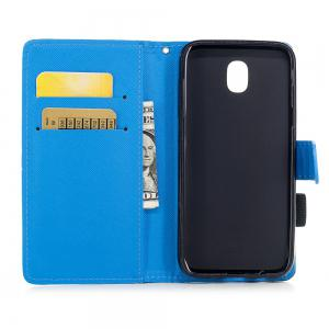 Color Pattern Flip PU Leather Wallet Case with Sling for Samsung Galaxy J5 2017 (Europe and Asia Edition) -