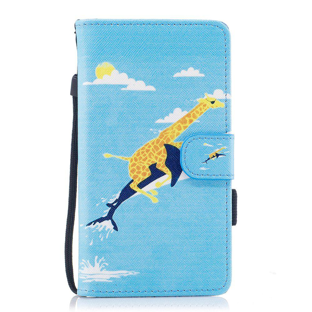 Buy Color Pattern Flip PU Leather Wallet Case with Sling for Samsung Galaxy J5 2017 (Europe and Asia Edition)