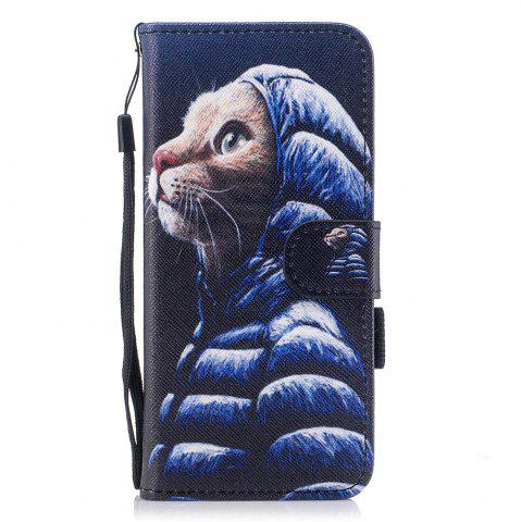 Fashion Color Pattern Flip PU Leather Wallet Case with Sling for Samsung Galaxy S8