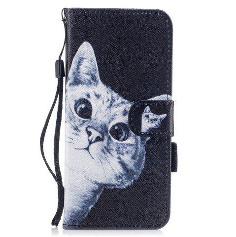 Chic Color Pattern Flip PU Leather Wallet Case with Sling for Samsung Galaxy S8