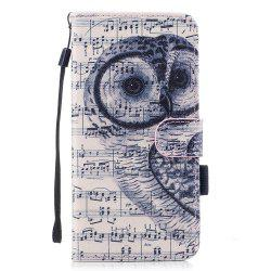 Color Pattern Flip PU Leather Wallet Case with Sling for Samsung Galaxy S8 Plus -