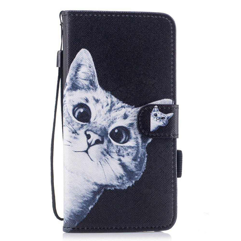 Chic Color Pattern Flip PU Leather Wallet Case with Sling for Samsung Galaxy S8 Plus