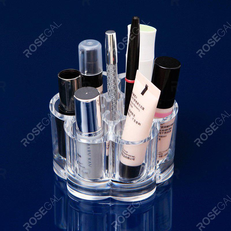 Crystal Desktop makeup Case Storage BoxHOME<br><br>Color: CLEAR WHITE;