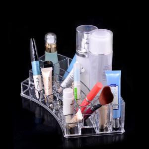Transparence Multiple Square Lattice Desktop Makeup Case Storage Box -
