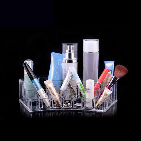 Transparence Multiple Square Lattice Desktop Makeup Case Storage Box