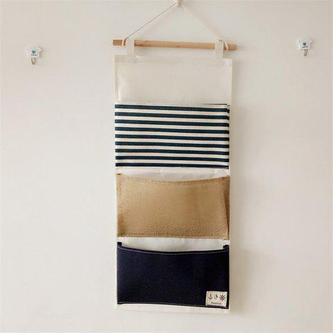 Latest Multi-Functional Stripes Three Lattice Storage Hang Bags