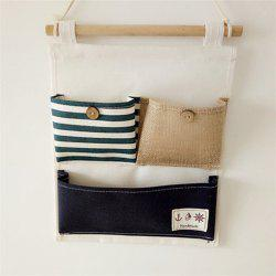 Créativité Multi-Functional Stripes Three Lattice Storage Hang Bags - Bleu et Blanc