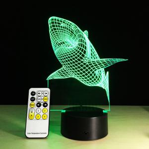 Yeduo shark Tooth 3D Led Night Light Acrylic Colorful Kids Baby Bedroom Usb Table Lamp Gift for Birthday Christmas -
