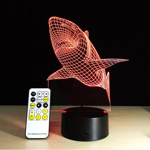 Trendy Yeduo shark Tooth 3D Led Night Light Acrylic Colorful Kids Baby Bedroom Usb Table Lamp Gift for Birthday Christmas