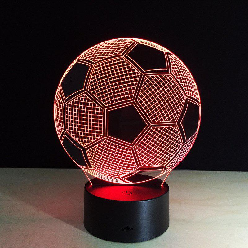 Yeduo New Creative Football Shape 3D Illusion Night Light 7COLORS Changeable for Bedroom DecorationHOME<br><br>Color: COLORMIX;
